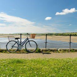 Bike rested up at fremington Quay