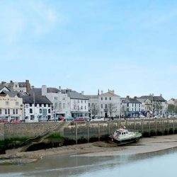 View of Bideford town from the old bridge