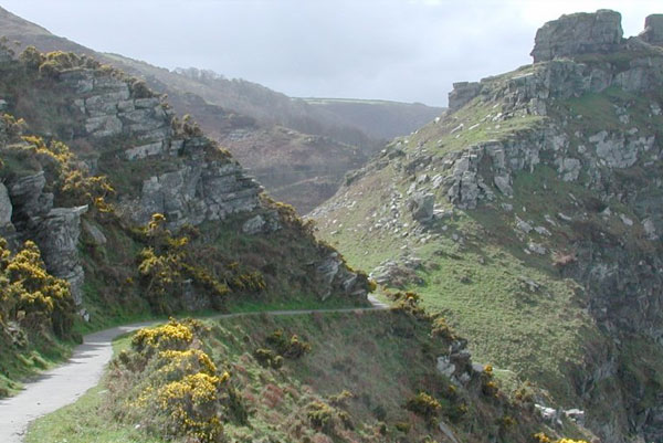 Valley of rocks on the north loop of the Tarka Trail