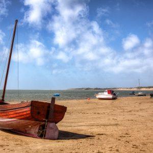 Boat on beach at Instow North Devon