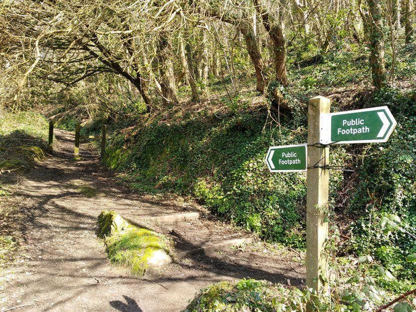 Public Footpath sign on the Tarka Trail